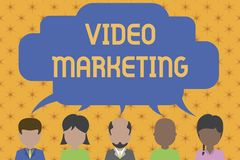 写文本录影行销的词 使用文章五,企业概念为创造关于具体题目的短的录影 库存例证