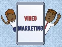 写文本录影行销的词 使用文章男性,企业概念为创造关于具体题目的短的录影 库存例证