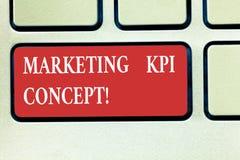 写文本营销Kpi概念的词 竞选措施效率的企业概念在销售渠道的 图库摄影