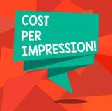 写文本费用每个印象的词 企业概念为提到登广告者有同意支付数字的率 库存例证