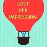 写文本费用每个印象的词 企业概念为提到登广告者有同意支付数字胡的率 向量例证