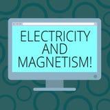 写显示电和磁性的笔记 企业照片陈列实现单磁芯的电磁力 皇族释放例证