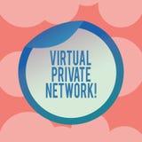 写显示虚拟专用网络的笔记 使用公开导线,被修建的企业照片陈列的网络 向量例证