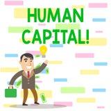 写显示Huanalysis资本的笔记 工作者s的经济价值的企业照片陈列的量化是 向量例证