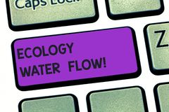 写生态水流量的手写文本 概念analysisaging的数量时间和质量的意思系统  免版税库存照片