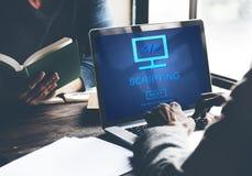 写电影脚本的HTML编制程序发展互联网概念 免版税库存照片