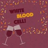 写白细胞的手写文本 意味白细胞的概念负责保护身体免受被填装的传染 库存例证