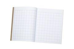 写的汉字作业簿 图库摄影