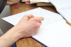写研究 免版税库存照片