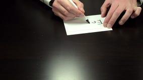 写笔记的手享用 股票录像