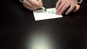 写笔记的手加入 股票录像