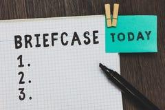写笔记陈列公文包 运载的文件的企业照片陈列的皮革塑料长方形容器 免版税库存图片