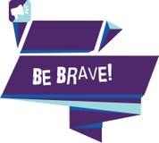写笔记陈列是勇敢的 企业照片陈列准备好面对和忍受危险或痛苦陈列勇气大胆四角形 库存照片