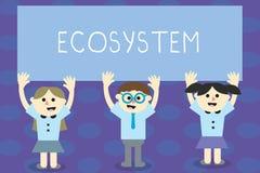 写笔记陈列生态系 陈列互动的有机体和环境学校的生物社区的企业照片 皇族释放例证
