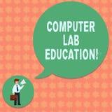 写笔记陈列计算机实验室教育 用在a的计算机用途或空间装备的企业照片陈列的室 向量例证