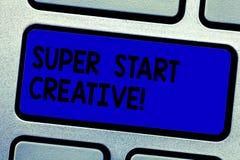 写超级开始的手写文本创造性 意味能力的概念发明和开发原始的销售的想法 免版税库存照片