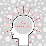 写项目笔记陈列Seo清单企业照片陈列的名单要求优选搜索引擎 向量例证