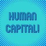 写Huanalysis资本的手写文本 意味工作者s的经济价值的量化的概念是技巧 库存例证