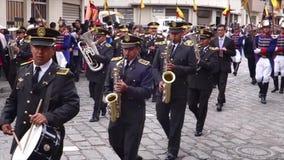 军乐队仪仗队在Paseo de尼诺Parade 2014年 股票录像