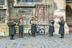军乐队在维也纳 免版税库存图片