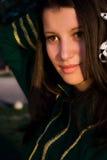 军乐队女队长某事注意的年轻人 图库摄影
