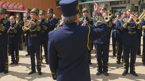 军乐队指挥  影视素材