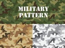 军事伪装样式 向量例证