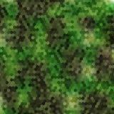 军事伪装蜂窝样式 四个颜色 免版税图库摄影