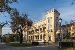 军事俱乐部大厦在市的中心索非亚,保加利亚 免版税图库摄影