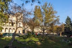 军事俱乐部大厦在市的中心索非亚,保加利亚 库存图片