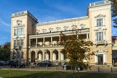 军事俱乐部大厦在市的中心索非亚,保加利亚 图库摄影