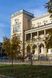 军事俱乐部大厦在市的中心索非亚,保加利亚 库存照片