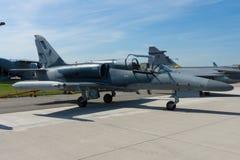 军事先进的轻的战斗机航空Vodochody L-159美国皮革化学家协会 免版税库存图片
