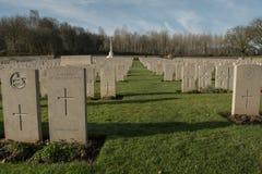 军事公墓在法国(WW1) 免版税库存图片