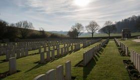 军事公墓在法国(WW1) 免版税库存照片