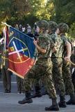 军事军校学生旅团标志 库存图片