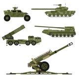 军事军队运输技术传染媒介战争坦克产业 库存例证