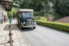 军事博物馆堡垒Siloso,新加坡区间车  免版税库存照片