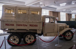 军事博物馆的军事葡萄酒汽车展览,俄罗斯, Ekaterinburg, Verkhnyaya Pyshma, 06 09 2014年 库存照片