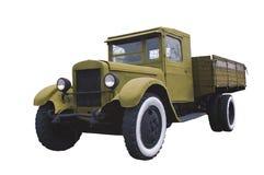 军事卡车ona白色 免版税库存图片