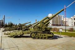 军事历史的博物馆的苏联武器展览, Verkhnyaya Pyshma,叶卡捷琳堡,俄罗斯, g 09 05 2016年 图库摄影
