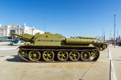 军事历史的博物馆的苏联武器展览, Verkhnyaya Pyshma,叶卡捷琳堡,俄罗斯, g 09 05 2016年 免版税库存照片