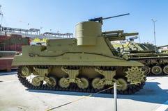 军事历史的博物馆的苏联武器展览, Verkhnyaya Pyshma,叶卡捷琳堡,俄罗斯, g 09 05 2016年 库存图片