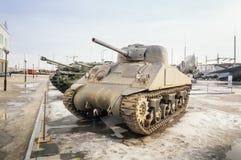 军事历史的博物馆的苏联武器展览, Verkhnyaya Pyshma,叶卡捷琳堡,俄罗斯, g 09 05 2016年 免版税图库摄影