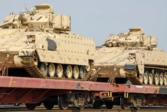 军事发运坦克 免版税库存图片