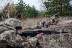 军事和作战医疗训练 图库摄影