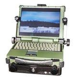 军事和工业的被保护的膝上型计算机被隔绝的 免版税库存照片