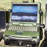 军事和工业的被保护的膝上型计算机 免版税库存图片