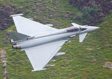 军事喷气机台风 免版税库存照片