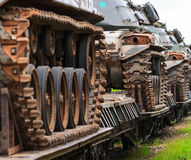 军事坦克。 免版税库存照片